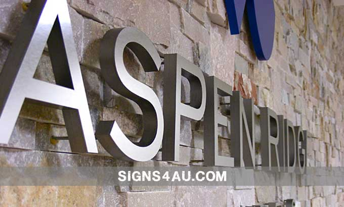 3d brushed stainless steel signs stainless steel signs aluminium