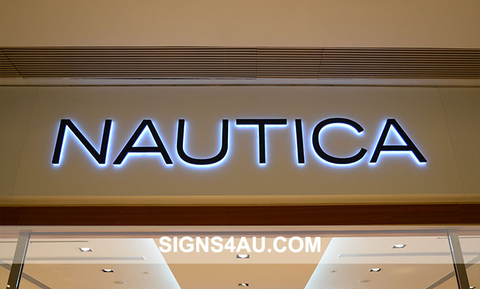 Luxurious LED Stainless Steel Backlit Store Signs