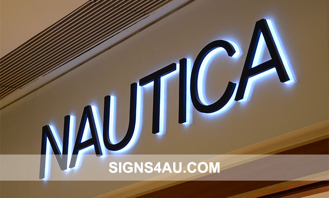 Luxurious LED Stainless Steel Backlit Business Signs
