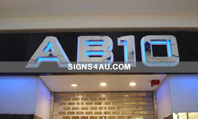 mirror-polished-stainless-steel-backlit-signs-with-acrylic-back-plane